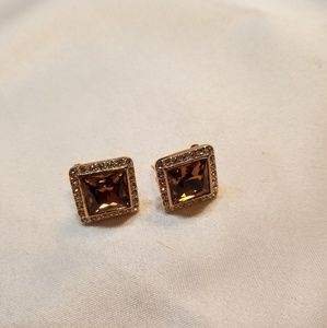 Stunning Brown Quartz Earrings